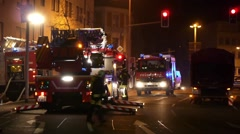 Pirmasens - Mar 05, 2011: Fire In Action. - stock footage
