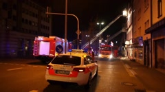 Pirmasens - Mar 05, 2011: Emergency In Action. Stock Footage