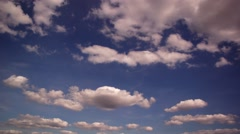 Beautiful Blue Clouds In The Sky In Time Lapse Stock Footage