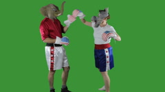 Political parties boxing - stock footage