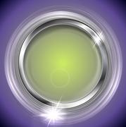 Bright shiny background with metal circle frame Stock Illustration