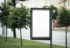 Blank street poster Stock Photos