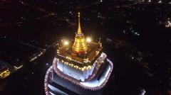 Aerial of Golden Mount Stock Footage