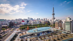 Nagoya Japan Cityscape Stock Footage