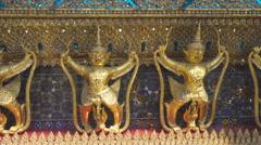 Fragment of the wall at Grand Palace in Bangkok Stock Footage