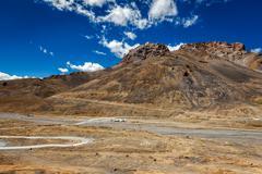 Manali-Leh road in Himalayas - stock photo