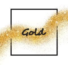 Vector golden sparkling falling star - stock illustration