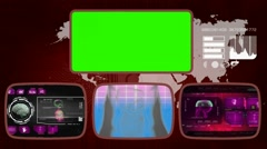 Digestion digital - Medical Monitor - Advanced Research - World - purple 03 Stock Footage
