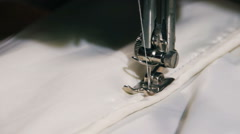 Sewing Machine in Work. Occupation seamstress - stock footage