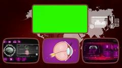 Eye - Medical Monitor - Advanced Research - World - purple 02 Stock Footage