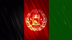 Afghanistan Flag Loopable Background - stock footage
