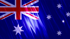 Australia Flag Loopable Background Stock Footage