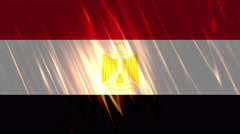 Egypt Flag Loopable Background Stock Footage