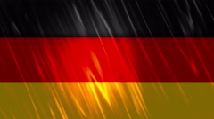 Germany Flag Loopable Background - stock footage