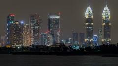 Dubai Internet City and Kazim towers timelapse Stock Footage