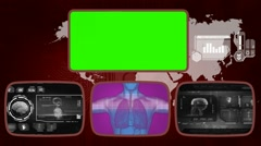 Lungs digital - Medical Monitor - Advanced Research - World - grey 02 Stock Footage