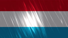 Luxembourg Flag Loopable Background Stock Footage