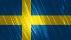 Sweden Flag Loopable Background Stock Footage