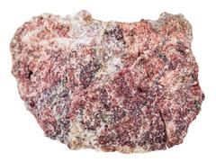 Piece of pink Dolomite rock isolated on white Stock Photos