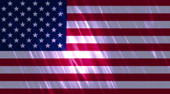 United States of America Flag Loopable Background Stock Footage