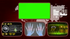Hands digital - Medical Monitor - Advanced Research - World - yellow 03 Stock Footage