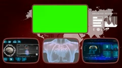 Heart digital - Medical Monitor - Advanced Research - World - blue 03 - stock footage