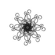 Vector design element in the form of a chandelier Stock Illustration