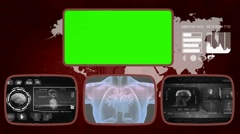 Heart digital - Medical Monitor - Advanced Research - World - grey 03 - stock footage