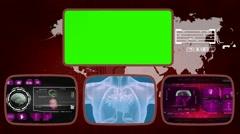 Heart digital - Medical Monitor - Advanced Research - World - purple 01 - stock footage