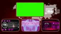 Heart digital - Medical Monitor - Advanced Research - World - purple 02 - stock footage