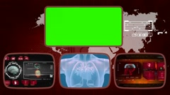 Heart digital - Medical Monitor - Advanced Research - World - red 01 Stock Footage
