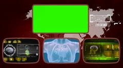 Heart digital - Medical Monitor - Advanced Research - World - yellow 01 - stock footage