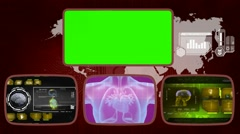 Heart digital - Medical Monitor - Advanced Research - World - yellow 02 Stock Footage