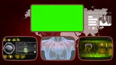 Heart digital - Medical Monitor - Advanced Research - World - yellow 03 - stock footage