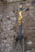 Cross with Jesus Christ Stock Photos