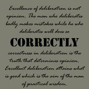 Aristotle Quotes. Excellence of deliberation - stock illustration