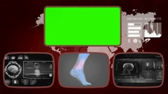 Foot digital - Medical Monitor - Advanced Research - World - grey 03 Stock Footage