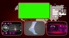 Foot digital - Medical Monitor - Advanced Research - World - purple 03 Stock Footage