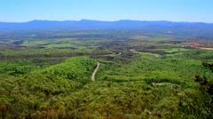 Shenandoah Valley - Massanutten Mountain in New Market, Virginia Stock Footage