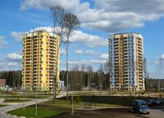 Moscow, Russia-April 24.2016. Zelenograd - the sleeping area of  city Stock Photos