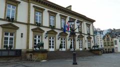 Luxembourg City, Luxembourg – winter 2016. Luxembourg City Hall. Stock Footage
