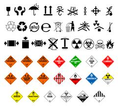 Dangerous cargo symbol - stock illustration