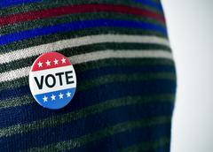 vote badge for the United States election - stock photo
