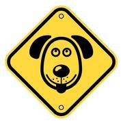 Danger dog sign - stock illustration
