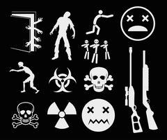 Zombies - stock illustration