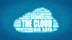 The Cloud - animated graphic of networking and cloud computing. Stock Footage