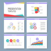 Set of vector templates for multipurpose presentation slides. Modern business Piirros