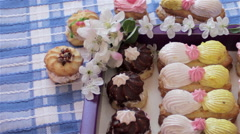 Biscuits with cream Stock Footage