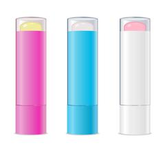 Lip balms. Vector - stock illustration