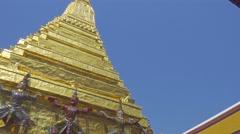 Wat Phra Kaew, Grand Palace, Bangkok, Thailand Stock Footage
